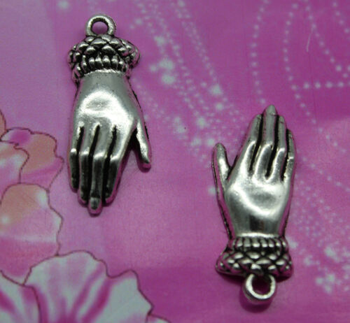 retro style The Gentle Hand alloy charms pendant 26*10mm
