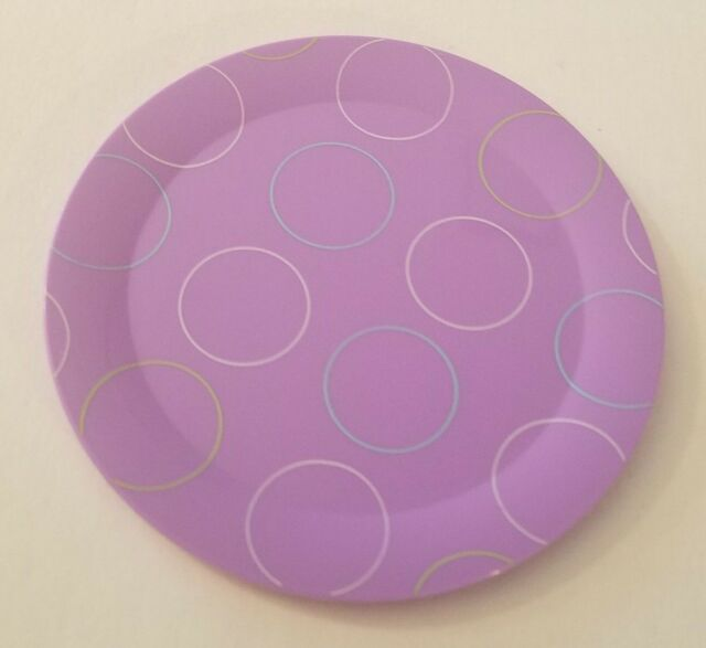 American Girl Retired Polka Dot Purple PLATE from GOTY Chrissa's Party Treats