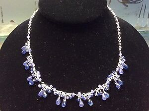 Dainty-Sterling-Silver-Necklace-With-Natural-Tanzanite-And-Kyanite-Gemstones