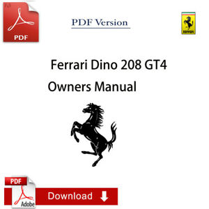 ferrari 208 owners manual