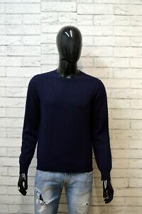 Maglione-in-Cashmere-Uomo-DONDUP-Taglia-S-Sweater-Cardigan-Blu-Pullover-Felpa