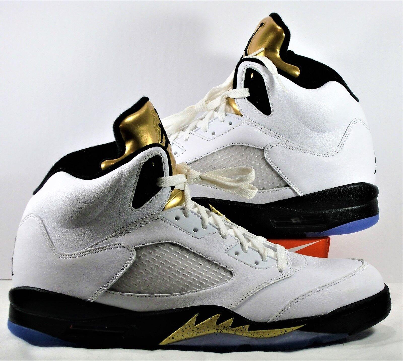 Nike air jordan retro - 5 / Weiß & olympischen neue metallisches gold sz 12 neue olympischen 136027 133 87be39