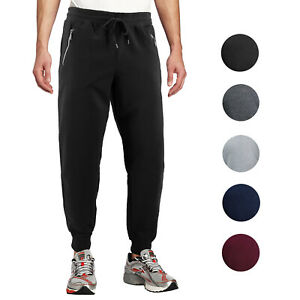 Men-039-s-Athletic-Running-Sport-Workout-Fitness-Gym-Zip-Pocket-Jogger-Sweat-Pants