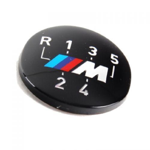 Plakette für Schaltknauf 5 gang selbstkleben Aufkleber Original BMW M Emblem