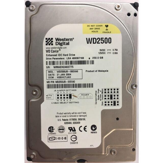 Western Digital 250GB, 7200RPM, IDE - WD2500JB-00EVA0