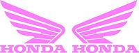 Honda Wing Goldwing Die Cut Decal - Set Of 2 - Pink
