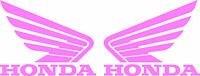 Honda Wing Goldwing Die Cut Decal - Set Of 2 - Pink