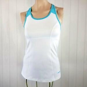 1be84107c53 Head Women's Racerback Athletic Fitness Tank Top Shelf Bra White ...