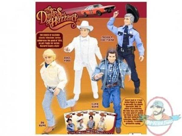 The Dukes of Hazzard 12  Retro Figure Set of 4 Figures Toy Company
