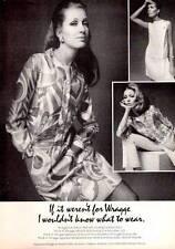 1967 Fashion B.H. Wragge Stitches Fashion Silk Dress  PRINT AD