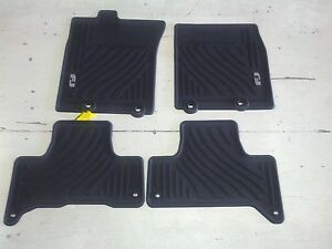 new oem 2011 2014 toyota fj cruiser all weather floor mats. Black Bedroom Furniture Sets. Home Design Ideas
