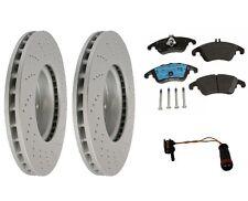 Front Brake KIT Rotors Pads Sensor For Mercedes W204 C350 Sedan w/ Sport Package