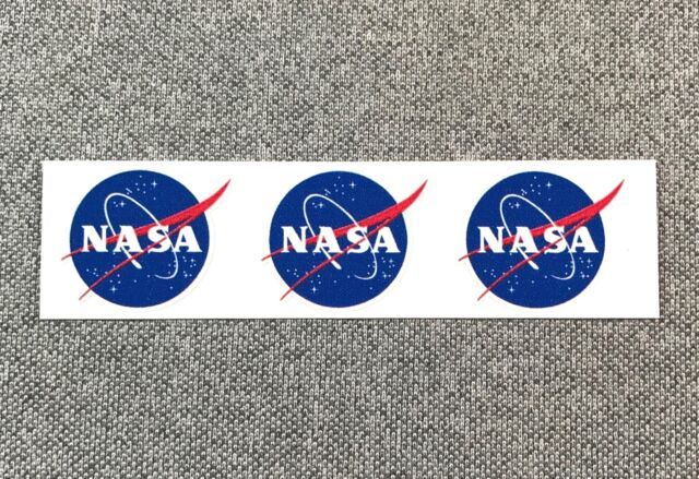 Nasa logo mini sticker space 1in set of 3 individual stickers in 1 sheet