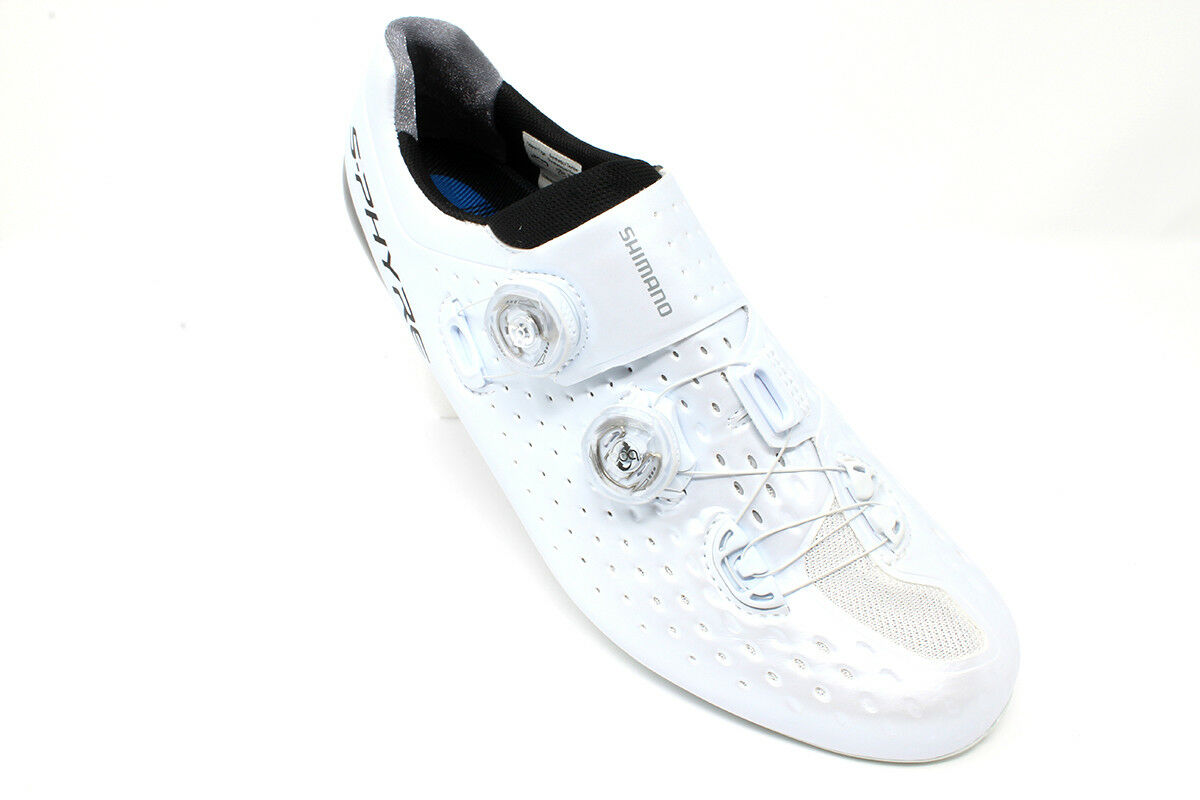BRAND NEW Shimano S-Phyre RC9 White Road Bike shoes - Size 10.5   45