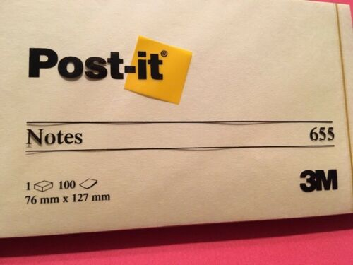 """3 Padx100 Sheet=total300 Yellow Canary Lot Of 3 3M Post-it Notes 655 3X5"""""""