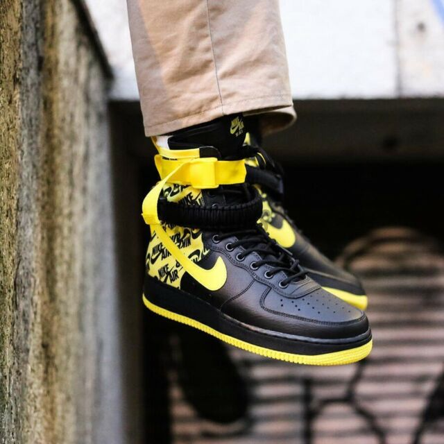 Nike SF Air Force 1 High Men's Shoes BlackGrey aa1128 002 (9.5 D(M) US)