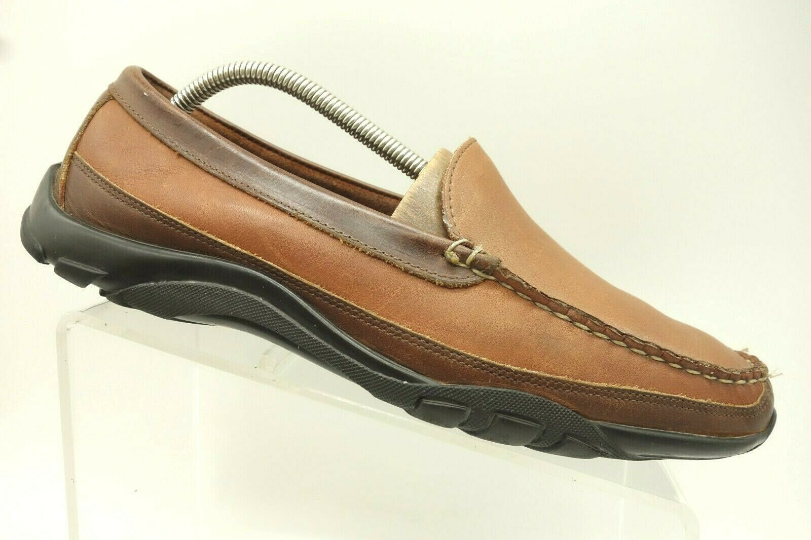 Allen Edmonds Boulder Brown Leather Slip On Casual Loafers shoes Men's 9.5 D