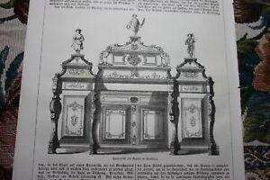 1853 Stich 142 Seitentisch Fa Engels Hamburg Möbel Ebay
