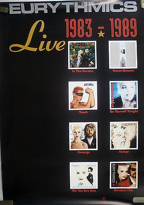 RARE EURYTHMICS LIVE 1983-1989 VINTAGE MUSIC RECORD STORE PROMO POSTER