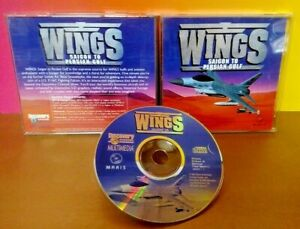 WINGS-Saigon-to-Persian-Gulf-Game-CD-ROM-Tested-Complete-Mint-Disc