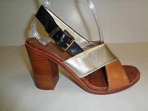 a388a9c7678f Sam Edelman Size 7.5 M IVY Brown Leather Strappy Heels Sandals New ...