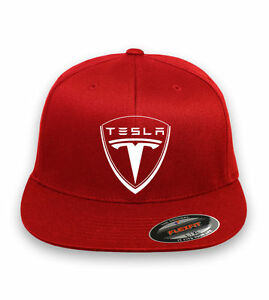 TESLA Motor Flex Fit HAT FREE SHIPPING Choose cap size and color S M ... a435a74d279