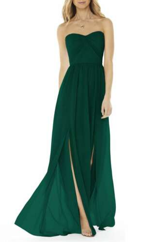 Social Bridesmaids Strapless Georgette Gown Size 2