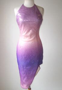 Sequin Purple Open Ochs Jurk Et Ombre Cushnie Back 4 R5jA34Lq