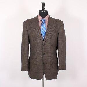 Claudio Morreli 36R Brown Hounds Wool Three Button Sport Coat Blazer Jacket