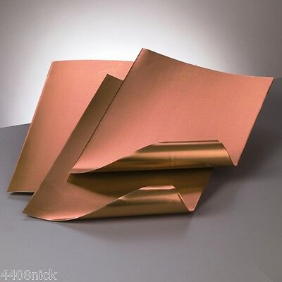 A4 ALUMINIUM EMBOSSING METAL SHEET  COPPER / COPPER 0.15 mm