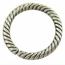 20 pcs Tibetan Silver Alloy Twist Connector Rings A0414