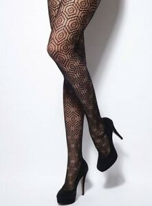 45c24e166b3 Image is loading Charnos-Geo-Shine-Opaque-Tights-Office-Party-Everyday-