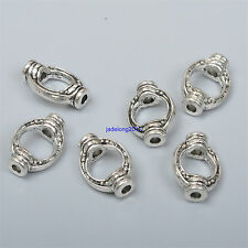 20pcs Tibetan Silver Charms OVAL Spacer Beads Frame 11.5x8MM C3511