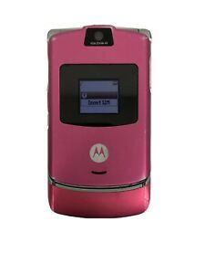 Motorola-RAZR-V3-SATIN-PINK-T-Mobile-FLIP-CELL-PHONE