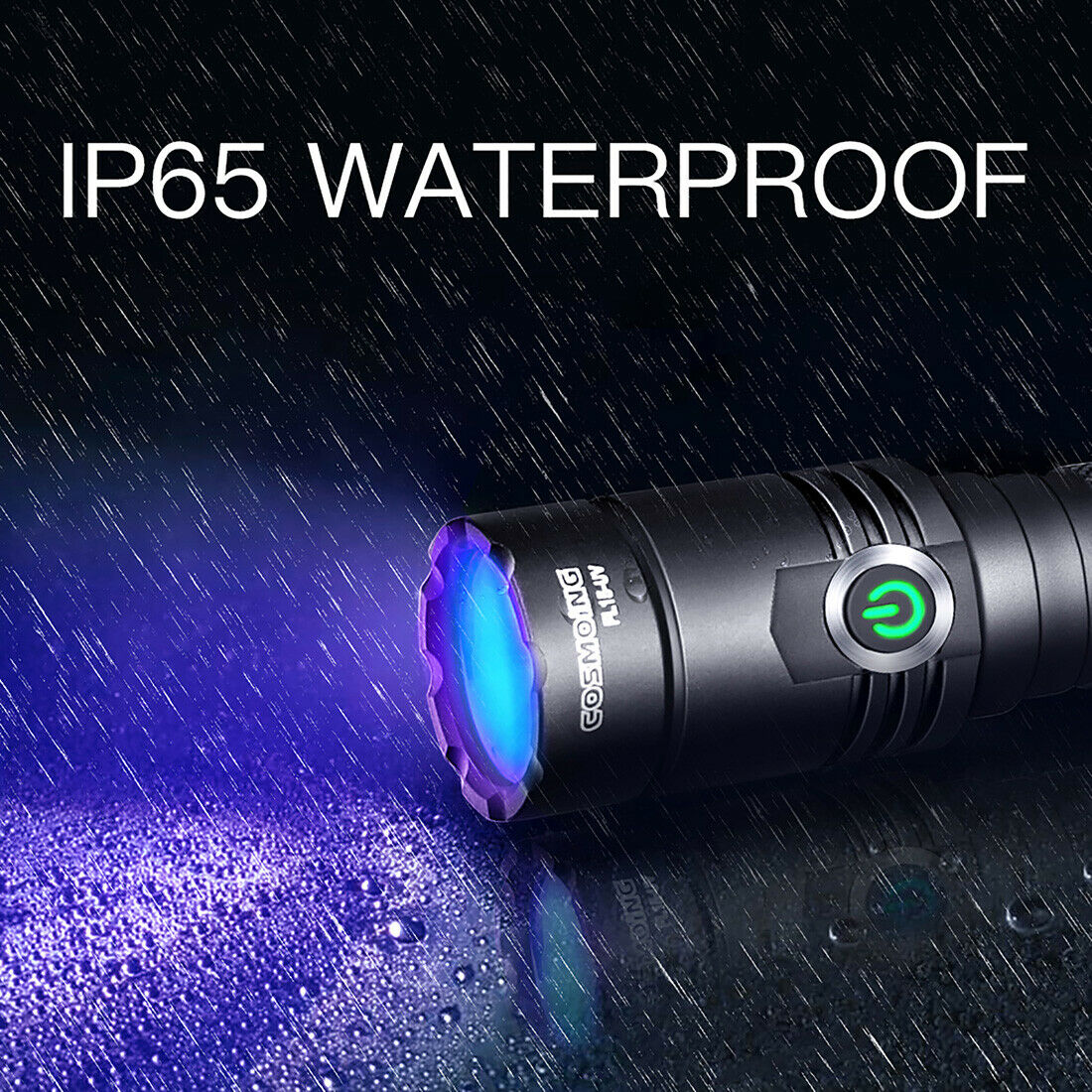 Image 41 - 395nm UV Light Blacklight Tactical LED Flashlight Rechargeable 18650 Torch Lamp