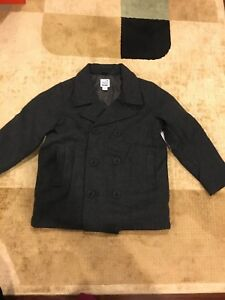 16973aa11ce3 BNWT Old Navy Boys S Small 6-7 Wool Peacoat Charcoal Grey