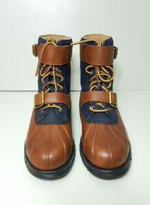 b708626ad20 Polo Ralph Lauren Drax Tan Newport Navy Leather suede Strapped Lace ...