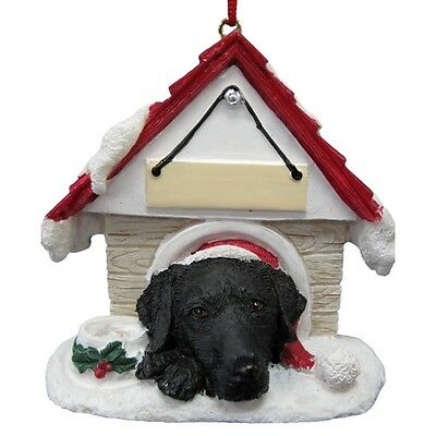Labrador Retriever Black Doghouse Ornament 21