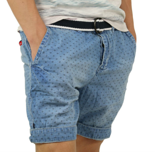 Nuovo Taglie S-XL Superdry SUPER National Short m71mt002 VYL Indigo-Blu
