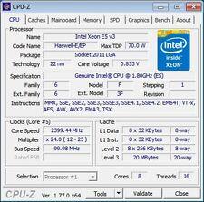 Intel Xeon E5 V3 8C/16T 2,0 - 2,5 GHz Sockel 2011-3 X99 70Watt ähnlich i7 5820