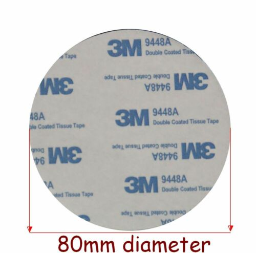 2 x  3M EVA BLACK Foam Tape PADS ~ 80mm Dia x 2mm Thick ~ Round Double Sided
