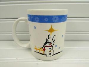 HLS3-by-Home-Lifestyles-Mug-Snowman-White-amp-Blue-Snowflakes-b218