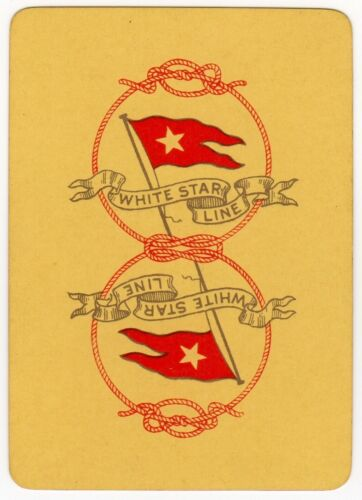 Playing Cards 1 Single Card Old Wide WSL WHITE STAR LINE Shipping Advertising 3