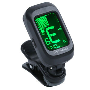 Clip-On-LCD-Digital-Tuner-For-Acoustic-Electric-Guitar-Bass-Violin-Ukulele-USA