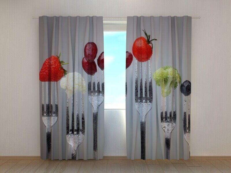Fotogardinen  Forks  Fotovorhang Fotovorhang Fotovorhang Vorhang Gardine 3D Qualität Bild, Nach Maß | Qualität Produkte  ff2dbe