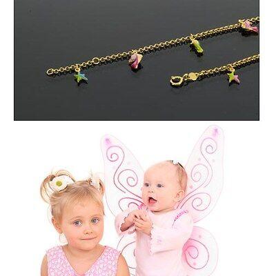 Echt Gold 333 Kinder Baby Armband Seestern Delfin Seepferdchen Fabig Email 13 Cm Feines Handwerk