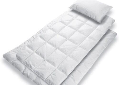 Gesslein 3 teiliges Bett-Set Bubou Effekt Steppdecke Kissen Matratzenauflage