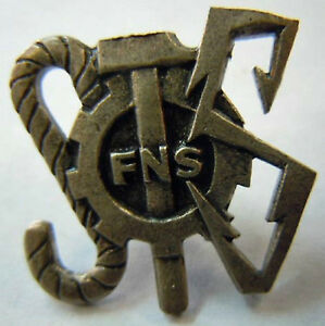 Politique-Syndicat-Federation-Nationale-Siderurgie-FNS-insigne-authentique