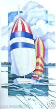 Spinnaker Run by Paul Brent - sailboat