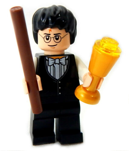 """NEW LEGO /""""YULE BALL/"""" HARRY POTTER MINIFIG w//butterbeer /& wand figure minifigure"""